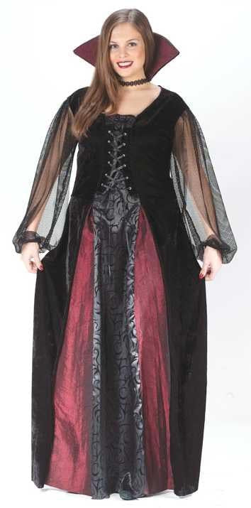 Goth Maiden Vampiress Adult Costume Kit, Plus Size
