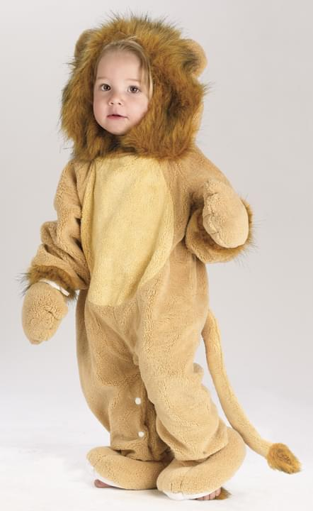 Fuzzy Tail Lion Costume Baby 6-12 Months
