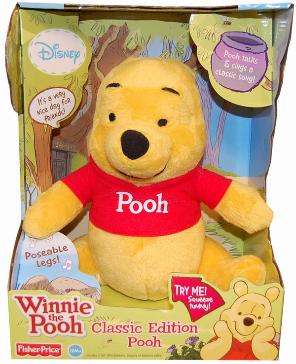 "Winnie The Pooh Classic Edition Pooh Posable 10"" Plush With Sound"