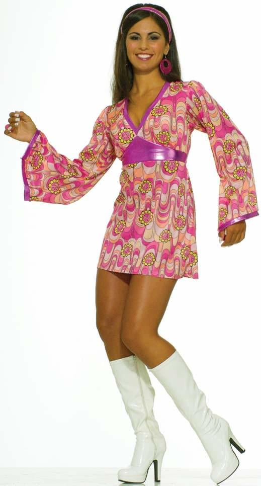 Flower Power Dress Adult Costume Medium/Large