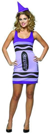 Wisteria Purple Crayola Crayon Tank Dress Costume Adult