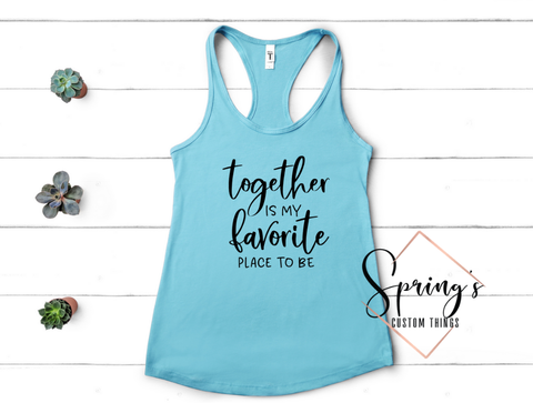 TOGETHER IS MY FAVOURITE SEASON TANK - LADIES