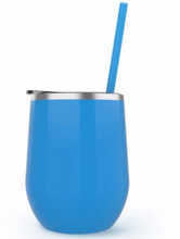 Load image into Gallery viewer, Every hour at the lake is happy hour - Wine tumbler
