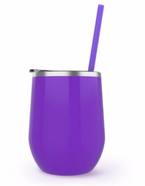 Every hour at the lake is happy hour - Wine tumbler