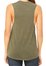 Load image into Gallery viewer, CUSTOMIZE With One Of Our Designs! Heather Military Green (Medium) Ladies Muscle Tank - RTS - Ready To Sell