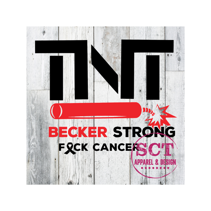 TNT BECKER STRONG VEHICLE DECAL