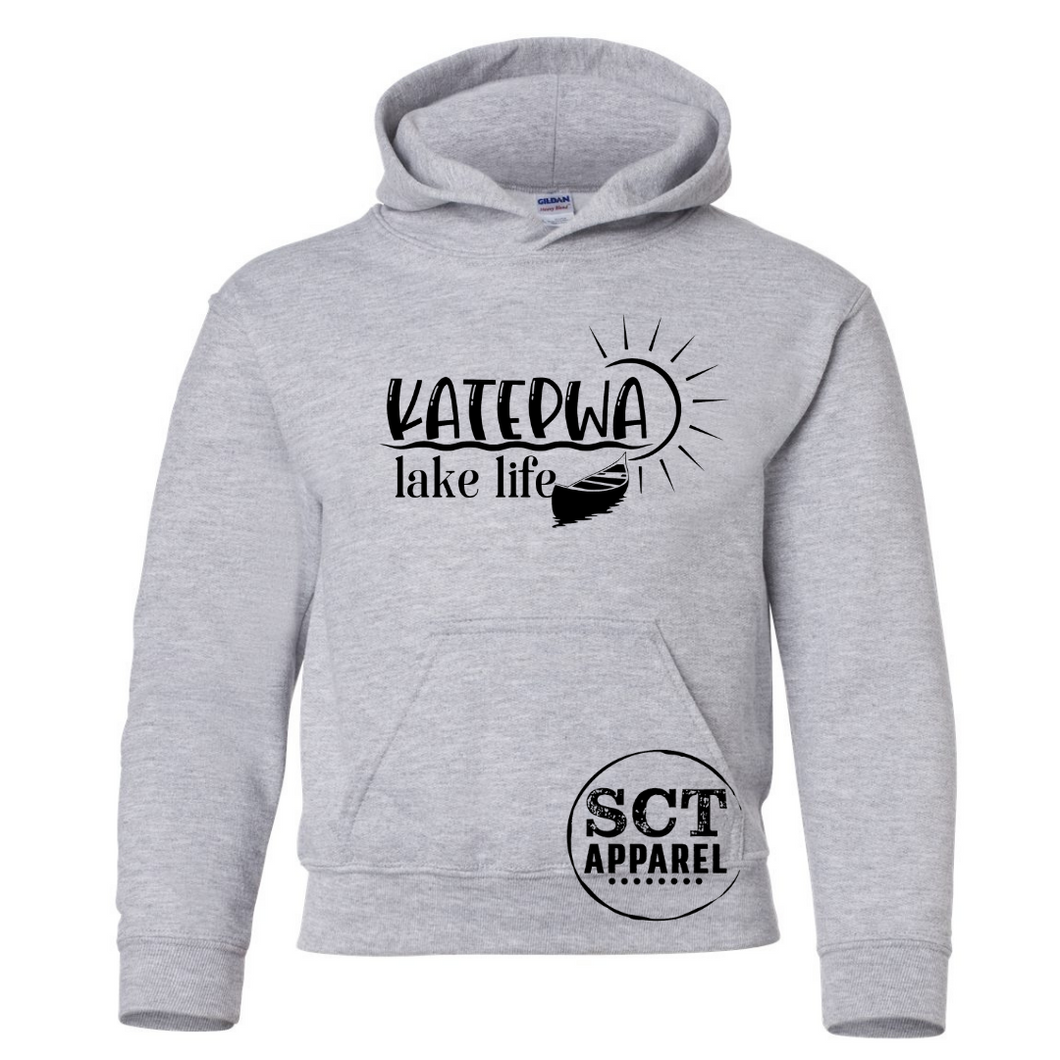 Katepwa life with canoe  - Youth hoodie