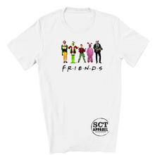 Load image into Gallery viewer, Friends Themed Christmas Movie Characters - Youth tee
