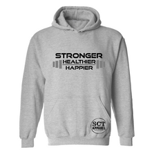 Load image into Gallery viewer, Stronger Healthier Happier- Unisex hoodie