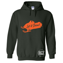 Load image into Gallery viewer, Let It Snow - Snowmobile Sledding- Unisex hoodie