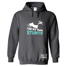 Load image into Gallery viewer, I Do My Own Stunts ~ Snowmobile/Sledding design- Unisex hoodie
