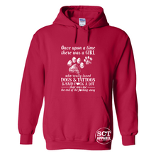 Load image into Gallery viewer, Once up a time there was a girl...dogs, tattoos & f#ck - Unisex hoodie