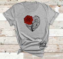 Load image into Gallery viewer, Rose Floral - Ladies tee
