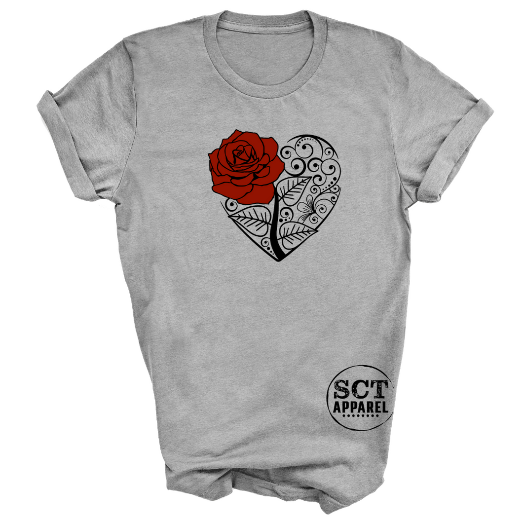 Rose Floral - Unisex Tee