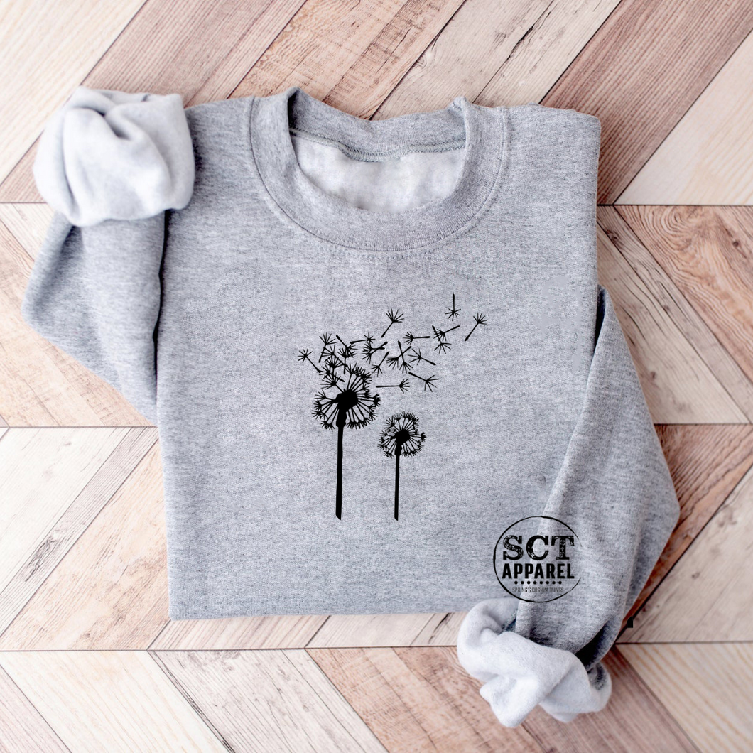 Dandelion Blowing - Unisex crewneck sweater