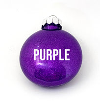 Load image into Gallery viewer, Dancer with your custom name - Glitter ornament (multiple colours available)