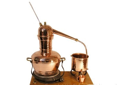 Alembic 6,00 L. Long Column (copper sieve, 115/230V electric plate)