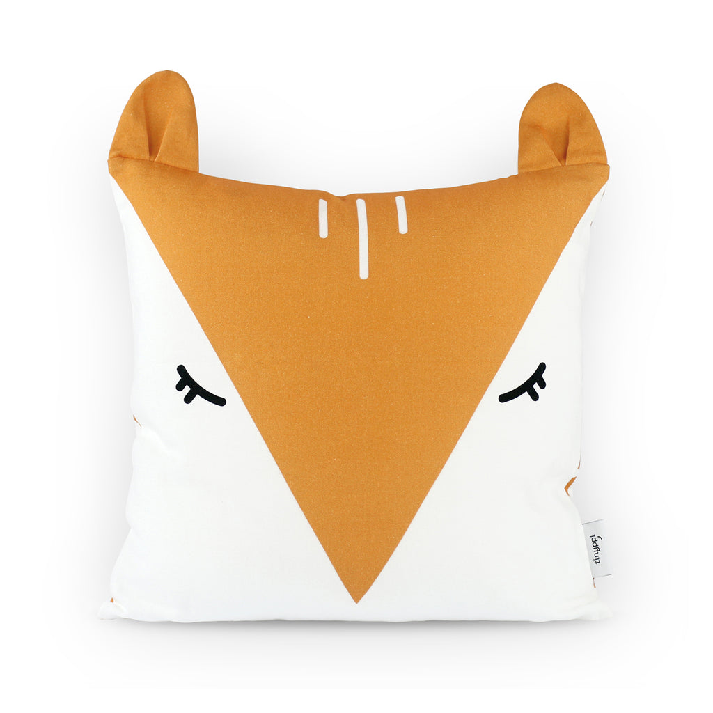 Organic Cotton Fox Cushion Cover for Kids