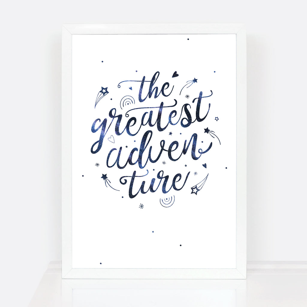 Typographic Nursery Wall Art