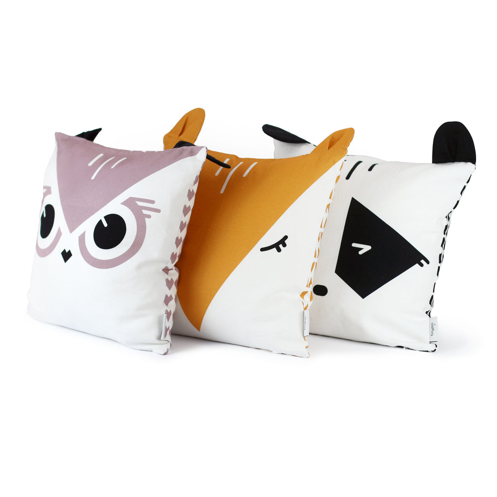 Woodland Animals Children Cushions Set
