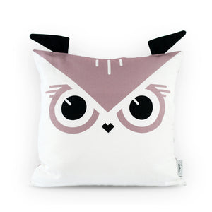 Wise Owl Pillow Cover Front