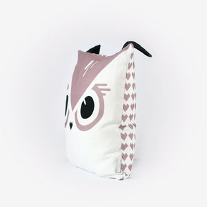 Fun Organic Cotton Owl Cushion for Children