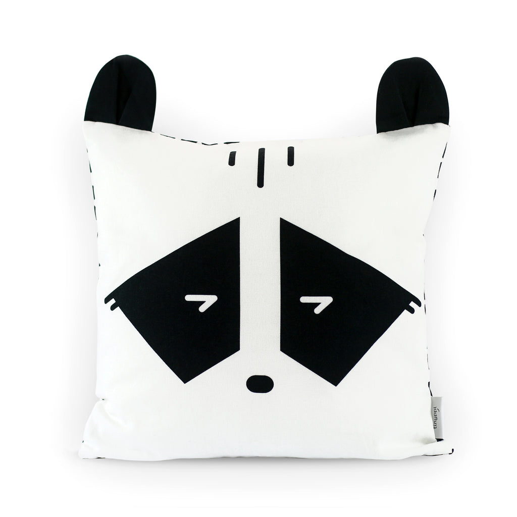 Cheeky Racoon Pillow Cover Front