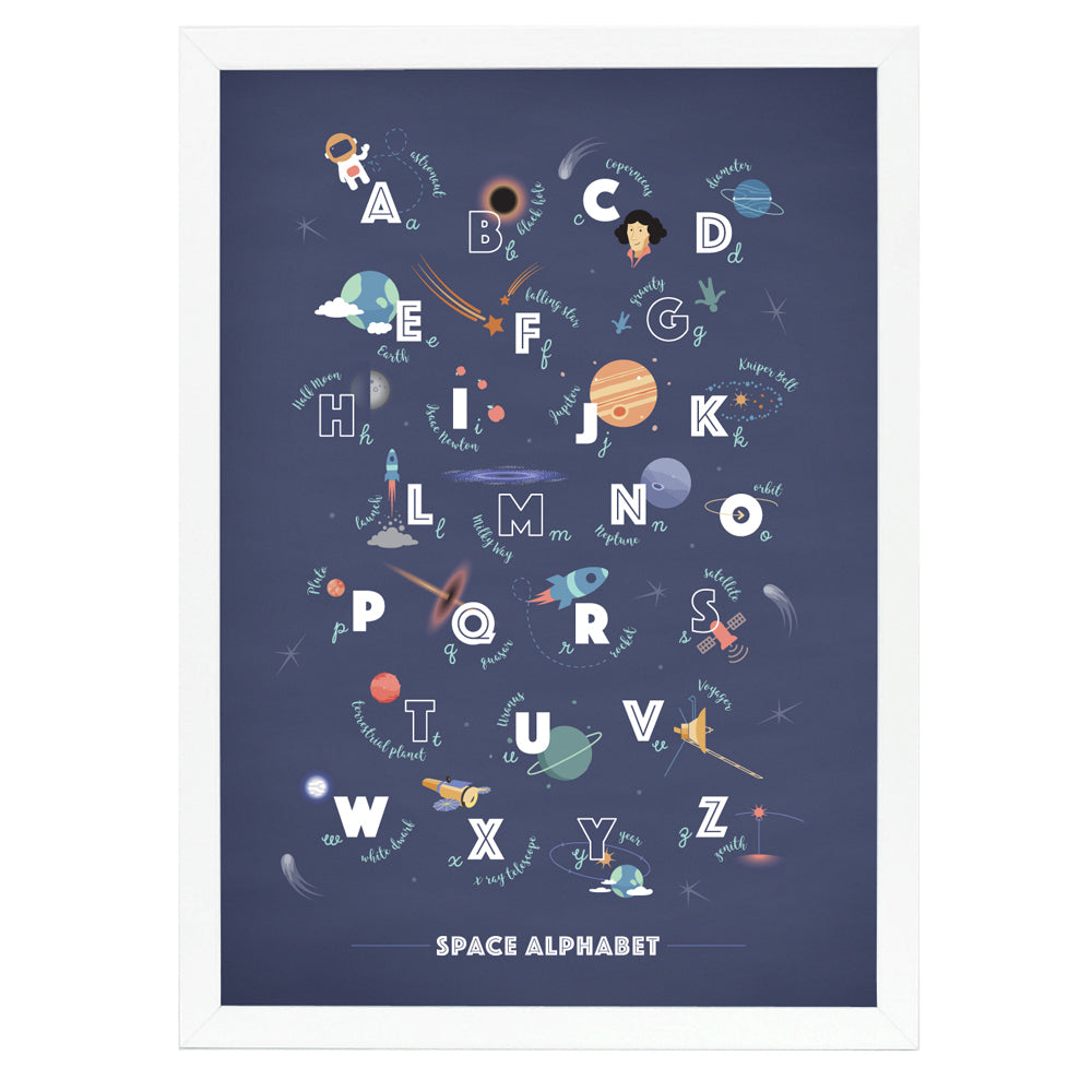 Space Alphabet Nursery Print