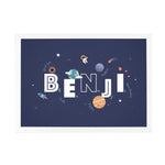 Personalised Space Print for Boys Nursery