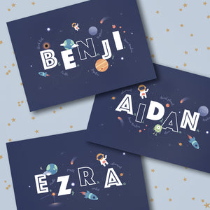 Benji Aidan Ezra Personalised Space Print