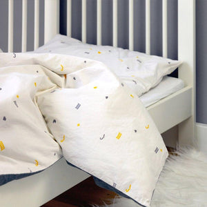 Toddler Duvet Cover and Pillow Case on Cot Bed