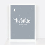Twinkle Twinkle little star new baby gift wall print