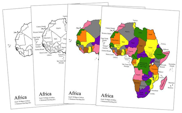 Africa Control Maps & Masters - Montessori Print Shop
