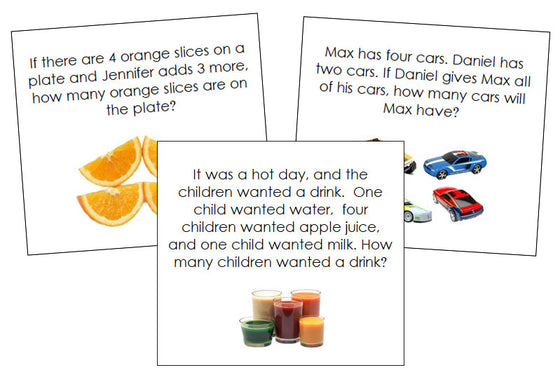 Addition Word Problems - Montessori Print Shop