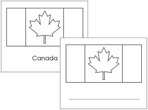 Canadian Flags: Outlines - Montessori geography materials