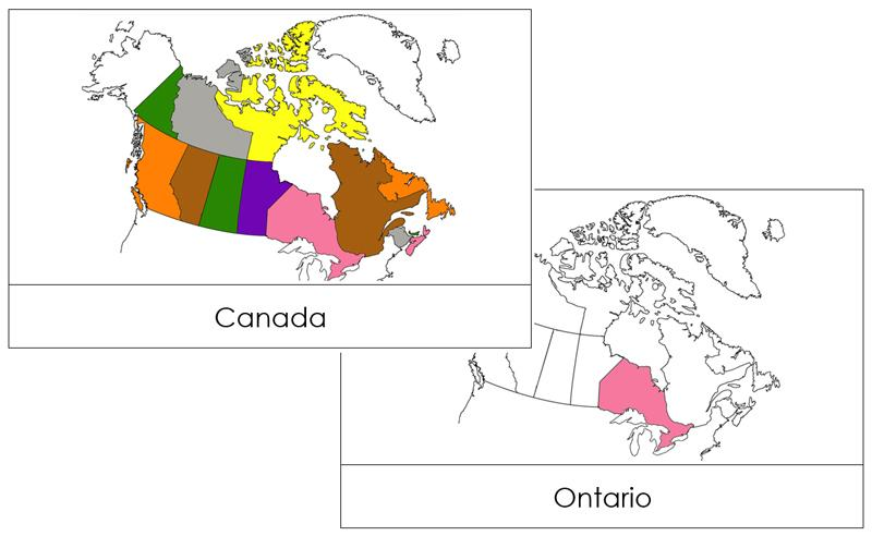 Canada Flash Cards - Montessori Print Shop geography materials