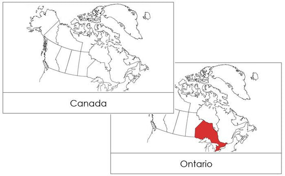 Canada Flash Cards - Montessori Print Shop geography cards
