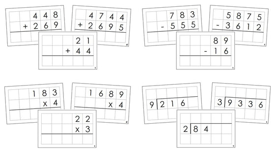 Math Operations Command Cards Bundle