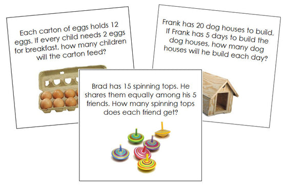 Division Word Problems - Montessori Print Shop
