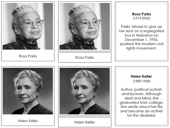 Great Women of the United States - Montessori Print Shop