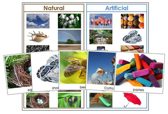 Natural or Artificial products - Montessori Print Shop
