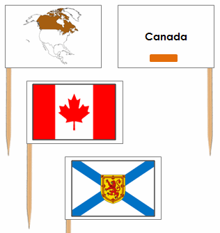 Canadian Flags: Pin Flags - Montessori geography materials