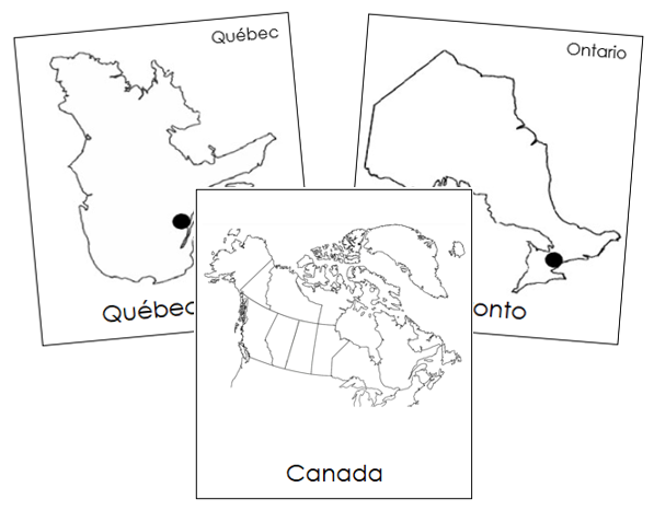 Canadian Capital Cities - Montessori geography cards