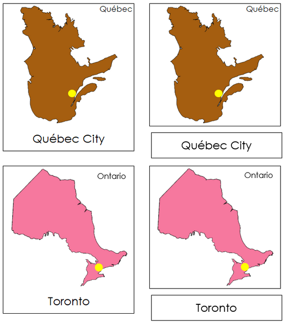 Canadian Provinces & Territories (color-coded) - Montessori Print Shop