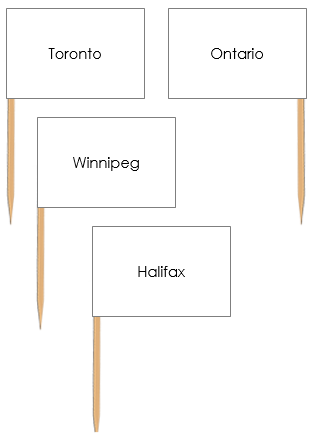 Canadian Capital Cities Pin Flags - Montessori geography cards