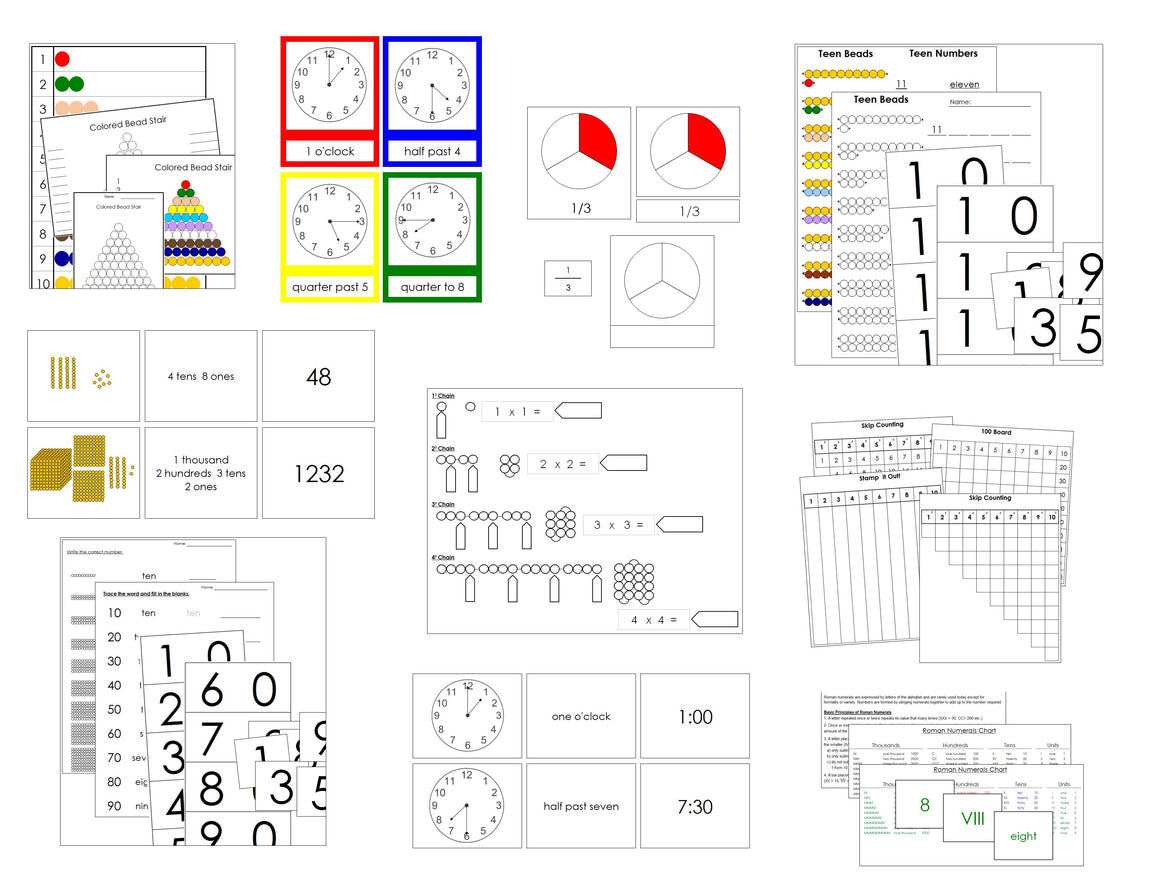 Primary Montessori Math Extensions Bundle - Montessori Print Shop