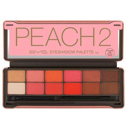 BYS:BYS Peach 2 Eyeshadow Tin 12 piece,Eyeshadow Palette