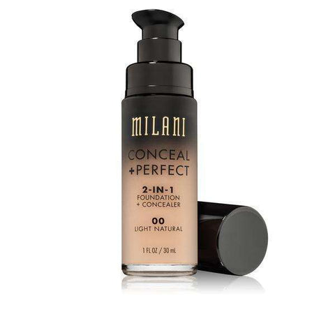 Milani Cosmetics:00 Light Natural,Liquid Foundation
