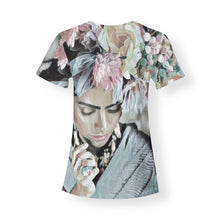 Blue Frida Women's V-neck