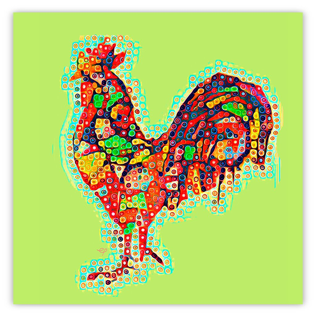 Contemporary Geo Rooster 1.